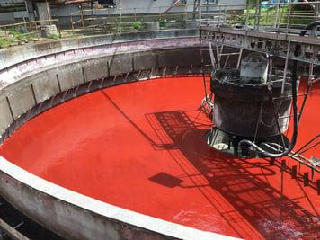 MasterSeal 7000 CR in sedimentation tank in WWTP Harmanec, Slovakia