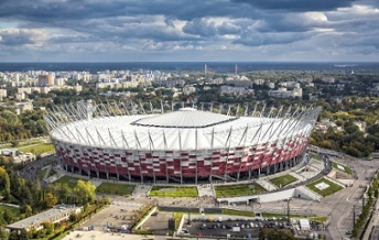 Warsaw National Stadium construction