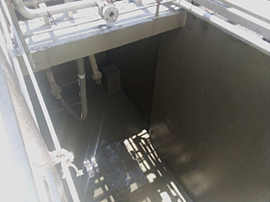 Master Builders Solutions_Retention tank for wastewater in a meat processing factory